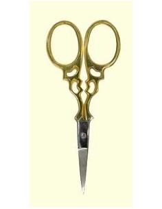 Ciseaux dorés bout argenté antique