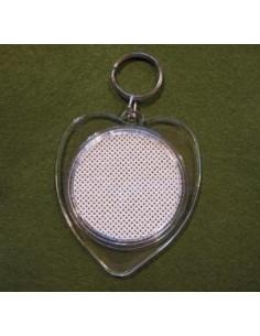 Porte-clés à broder en plastique