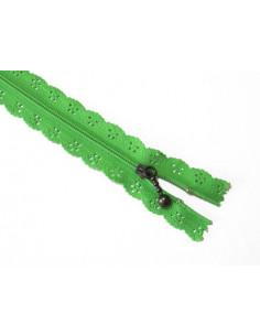 Fermeture éclair dentelle 20 cm - vert