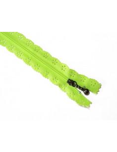 Fermeture éclair dentelle 20 cm - vert-jaune clair fluo