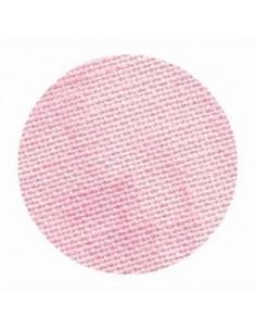 Toile de lin Zweigart Belfast coloris 4219 - Marbré rose