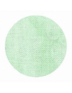 Toile de lin Zweigart Cashel coloris 6159 - Marbré vert