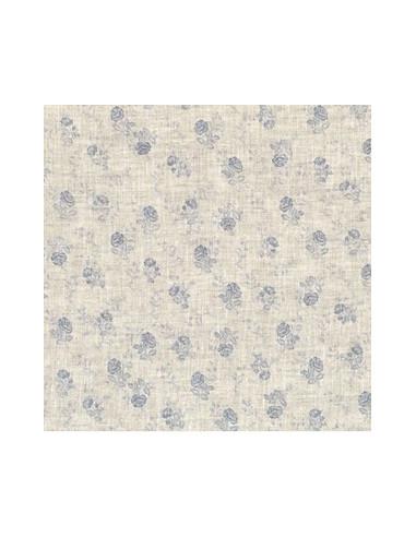 tissu lin imprim madame bijoux bleu gris 15 265 broderie passion. Black Bedroom Furniture Sets. Home Design Ideas