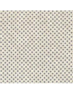 Tissu - Lin imprimé Madame Bijoux bleu-gris - 15-269