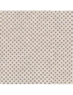 Tissu - Lin imprimé Madame Bijoux parme - 15-270