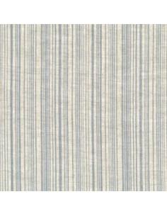 Tissu - Lin imprimé Madame Bijoux bleu-gris - 15-273
