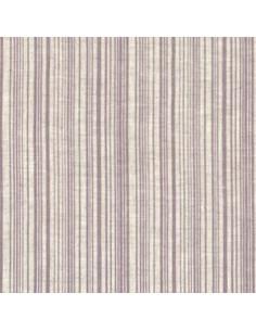 Tissu - Lin imprimé Madame Bijoux parme - 15-274
