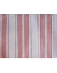 Coupon de tissu coton - grandes lignes - rouge et beige