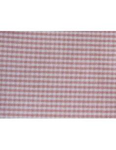 Coupon de tissu coton - petits carreaux - rouge et beige