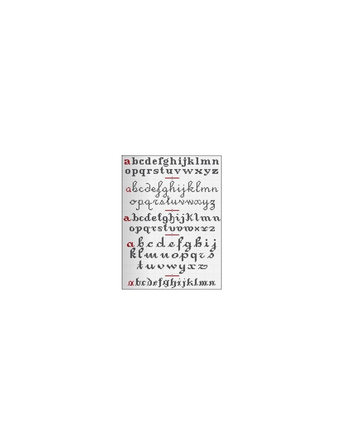 Bien-aimé Livre - Bible des lettres au point de croix - Broderie Passion VZ15