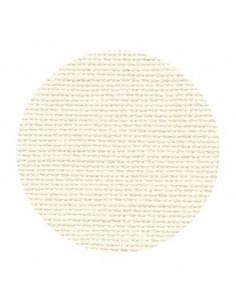 Toile de lin Zweigart Belfast coloris 222 - Crème