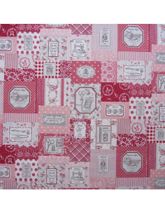 Tissu Yuwa - Sewing Set (set de couture) - rose et rouge