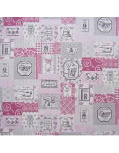 Tissu Yuwa - Sewing Set (set de couture) - vieux rose et gris