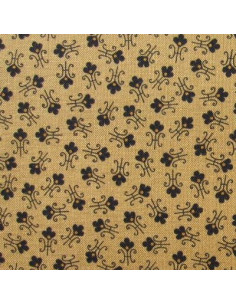 Tissu Patchwork - Petites fleurs sur fond beige