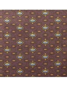 Tissu Patchwork - Petits motifs sur fond brun
