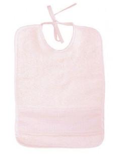 Bavoir pour bébé - éponge - rose clair