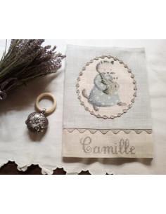 """Le Lin d'Isabelle - Protège carnet de Santé """"Chat"""""""