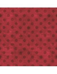 Tissu Patchwork - Simply Gorjuss - Rouge à pois