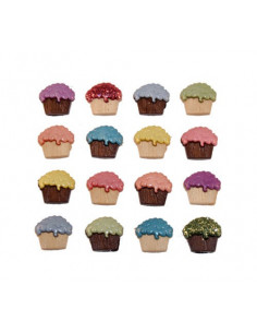 Lot de boutons Dress It Up - Cupcakes