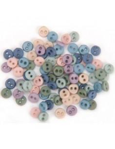 Lot de boutons Dress It Up - Micro Mini Round Romance