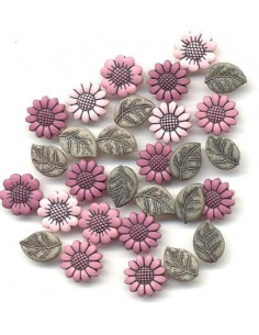Lot de boutons Dress It Up - Tiny Country Flowers