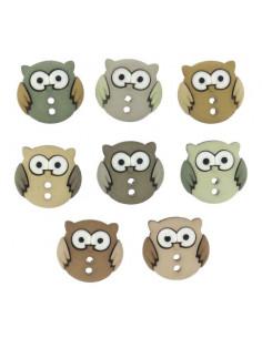 Lot de boutons Dress It Up - Sew Cute Owls