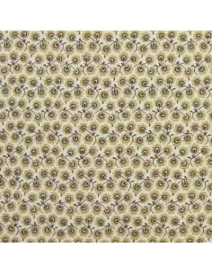 Tissu Patchwork - Petites fleurs beiges