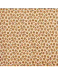 Tissu Patchwork - Petites fleurs - terracotta