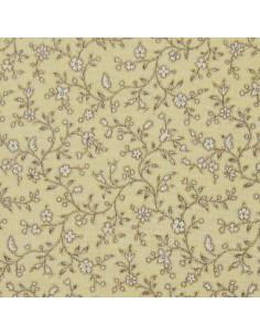 Tissu Patchwork - Petites fleurs - écru sur fond beige clair