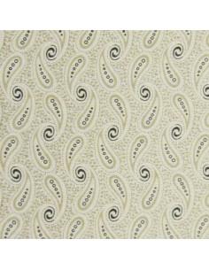 Tissu Patchwork - Volutes - beige