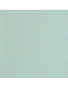 Tissu Patchwork - Petites rayures - turquoise