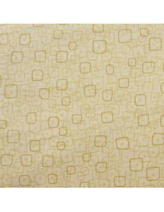 Tissu Patchwork - Carrés - beige