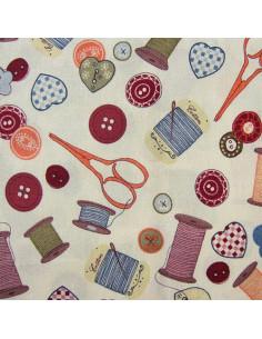 Tissu Patchwork - Accessoires de couture - multicolore