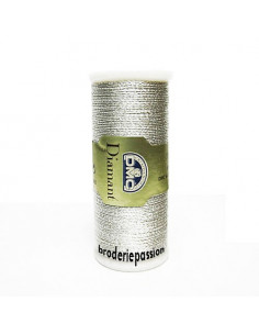 Fil à broder Diamant de DMC - coloris argent clair D168