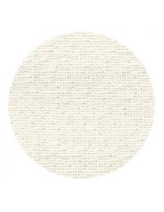 Toile de lin Zweigart Belfast coloris 1111 - Blanc irisé