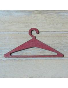Mini cintre en bois - rouge - 70 mm
