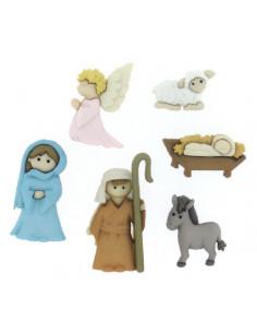 Lot de boutons Dress It Up - Nativity