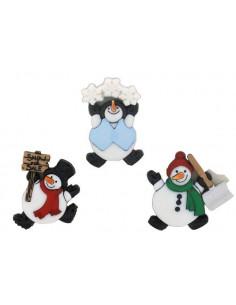 Lot de boutons Dress It Up - Roly Poly Snowman