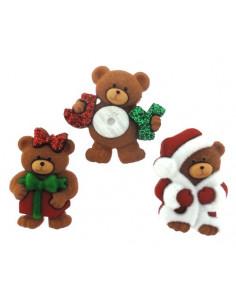 Lot de boutons Dress It Up - A Beary Merry Christmas