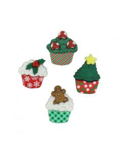 Lot de boutons Dress It Up - Christmas Cupcakes