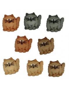 Lot de boutons Dress It Up - Fat Cats