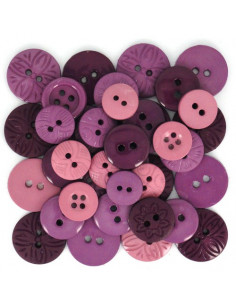Lot de boutons Dress It Up - Color Me... Plum