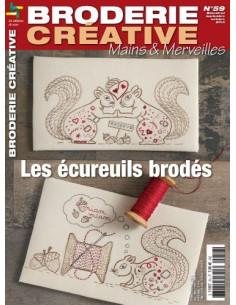 Mains et Merveilles - Broderie Créative 59 - Les écureuils brodés