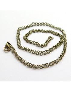 Chainette pour pendentif coloris bronze antique - 76 cm