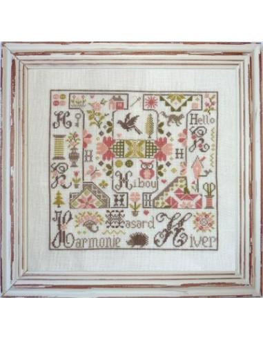 Jardin Privé - Lettre H comme Harmonie - Broderie Passion