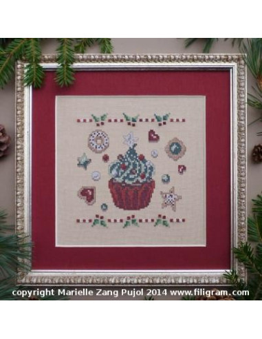 Filigram - fiche - Cupcake de Noël