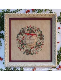 Filigram - fiche - Couronne de Noël aux rouges-gorges