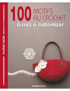 Livre - 100 motifs au crochet & 6 sacs à customiser