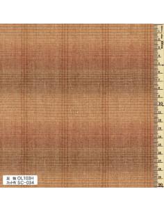 Tissu japonais tissé - ligné - orange
