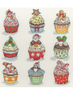 Bothy Threads - Kit - Christmas Cup Cakes